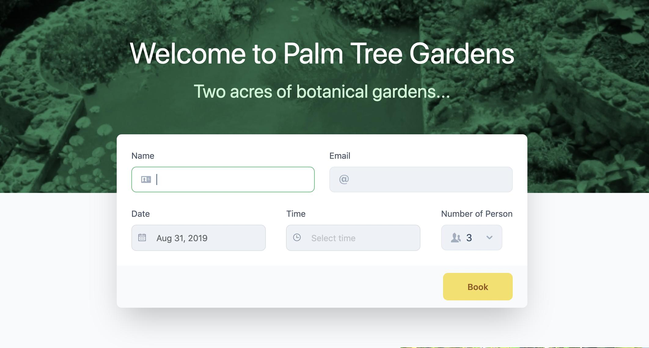 New Website for Palm Tree Gardens